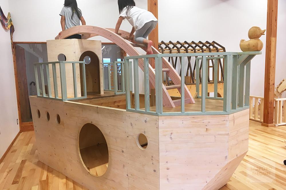 旭川 当麻町 木育 子育て支援 くるみな 木遊館 屋内 室内 遊び場