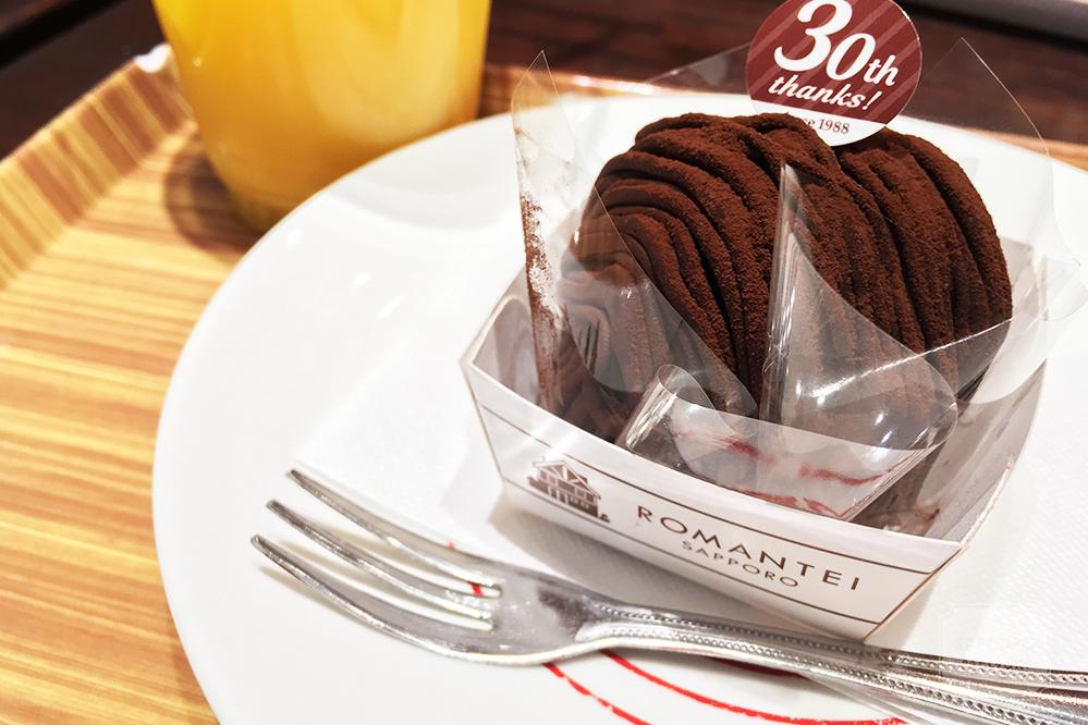 ろまん亭のチョコモンブラン