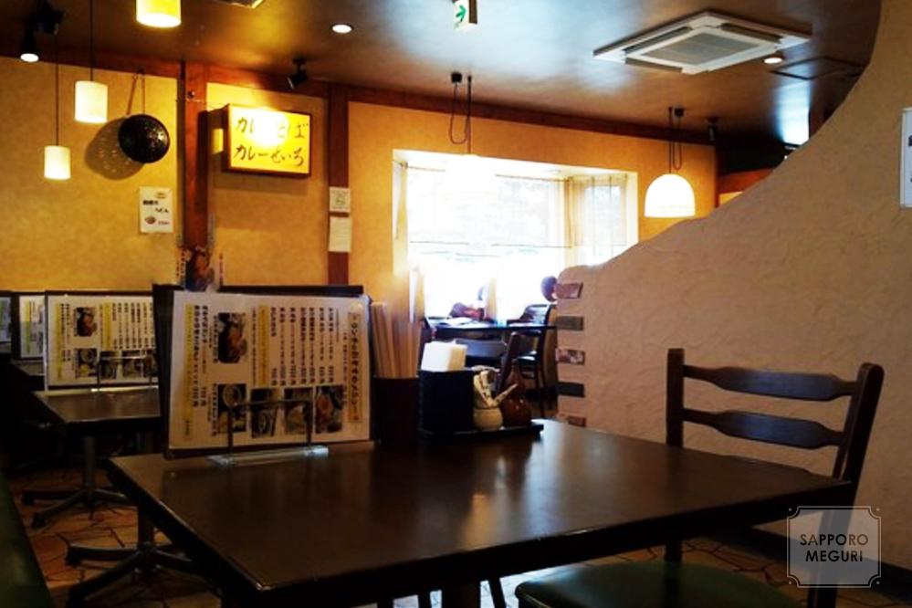 手稲の蕎麦屋きらりの店内