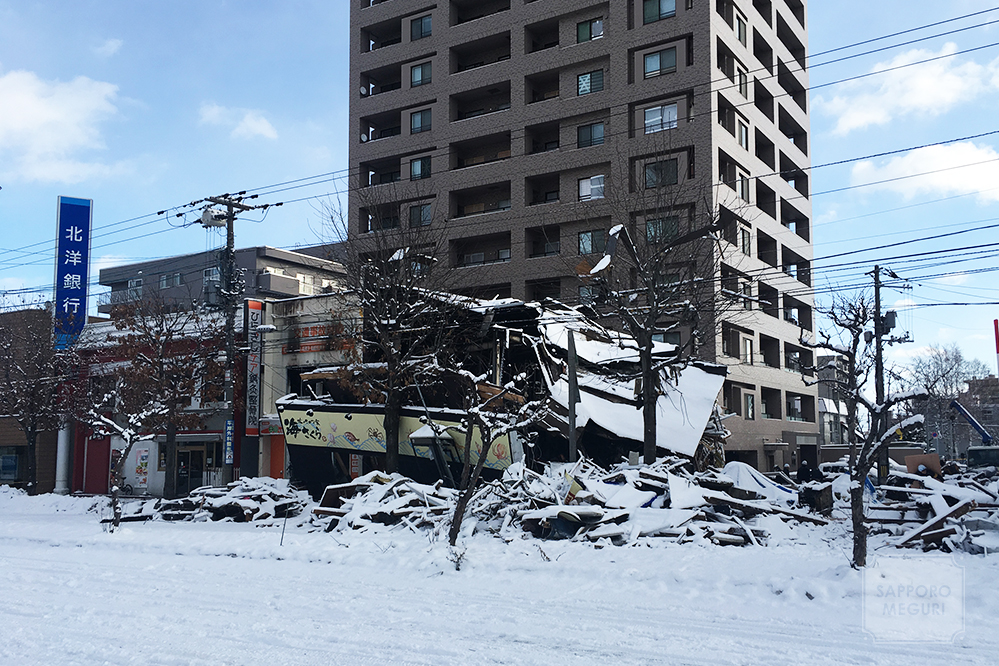 札幌豊平区平岸の爆発事故の様子