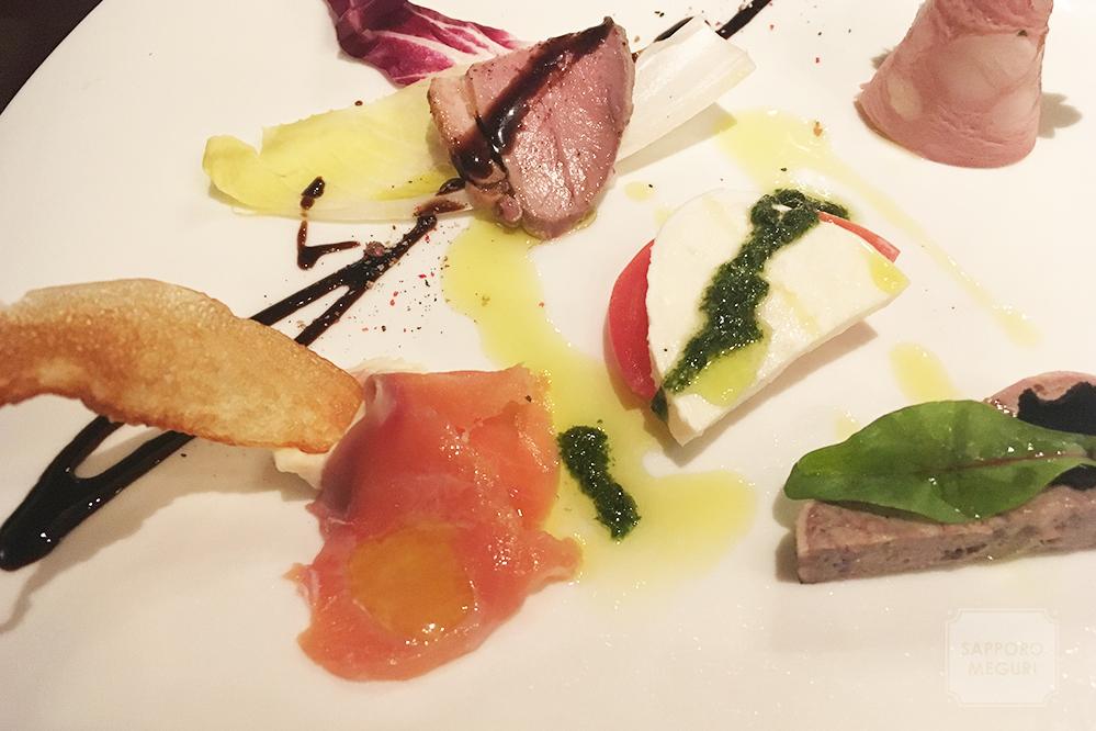 札幌大通りのミアアンジェラ池内の前菜