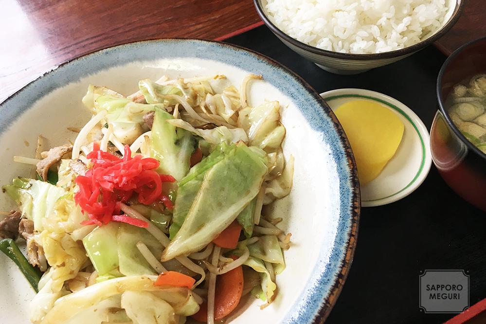 食事処藤の野菜炒め定食
