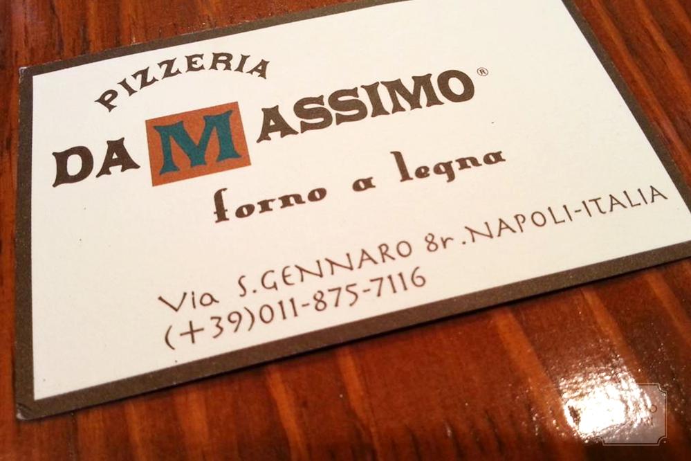 ピッツェリアダマッシモの店カード