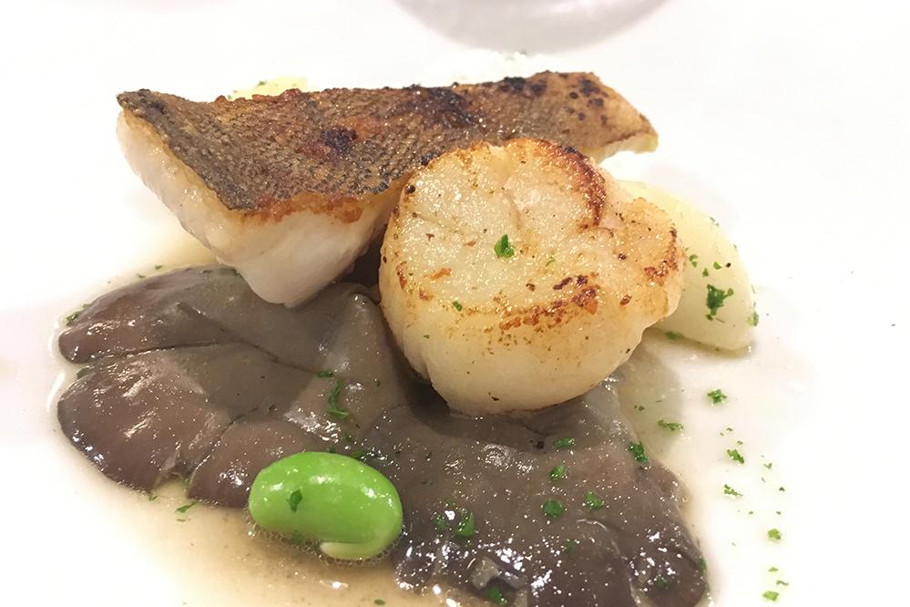 フレンチレストランラサンテの魚料理