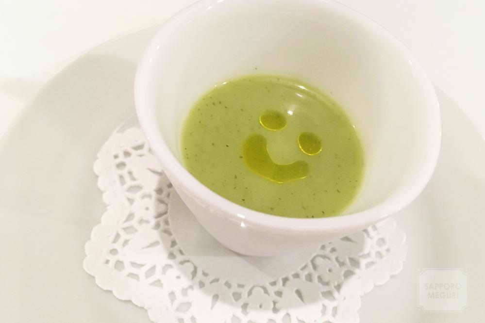フレンチレストランラサンテのスープ