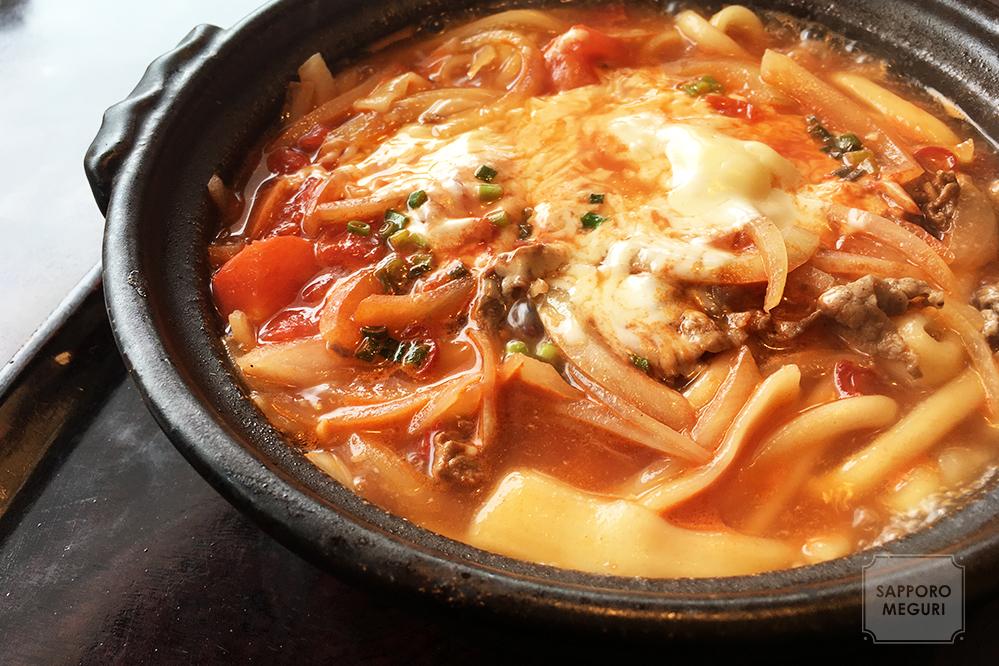 札幌 菊水 白石 環状通り ランチ 子連れ 手延べうどん むぎの里 チェーン店 トマト チーズ